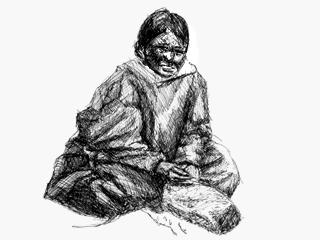 Jeune femme esquimaude. Illustration : � Sylvio Boudreau